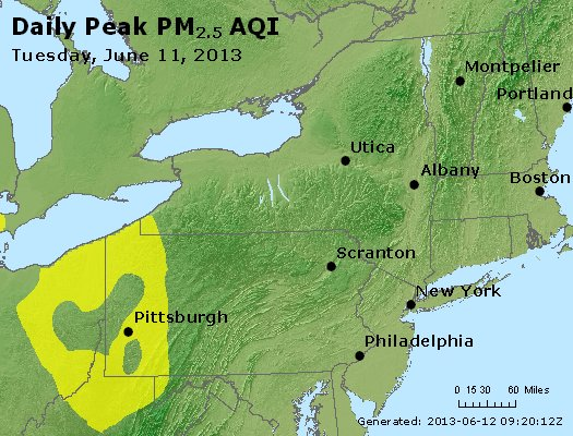 Peak Particles PM<sub>2.5</sub> (24-hour) - http://files.airnowtech.org/airnow/2013/20130611/peak_pm25_ny_pa_nj.jpg