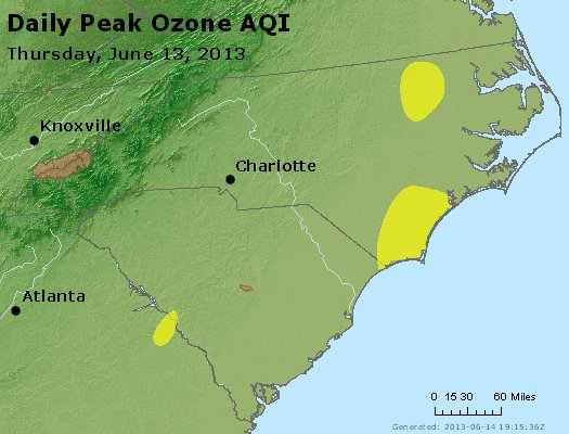 Peak Ozone (8-hour) - http://files.airnowtech.org/airnow/2013/20130613/peak_o3_nc_sc.jpg