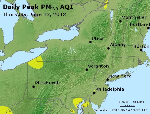 Peak Particles PM<sub>2.5</sub> (24-hour) - http://files.airnowtech.org/airnow/2013/20130613/peak_pm25_ny_pa_nj.jpg
