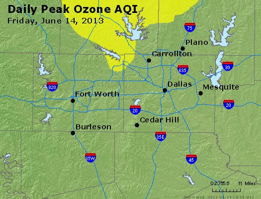 Peak Ozone (8-hour) - http://files.airnowtech.org/airnow/2013/20130614/peak_o3_dallas_tx.jpg