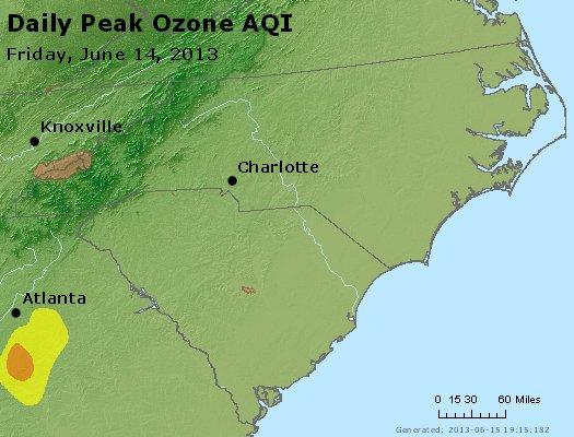 Peak Ozone (8-hour) - http://files.airnowtech.org/airnow/2013/20130614/peak_o3_nc_sc.jpg