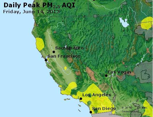Peak Particles PM<sub>2.5</sub> (24-hour) - http://files.airnowtech.org/airnow/2013/20130614/peak_pm25_ca_nv.jpg