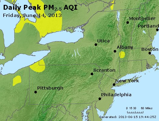 Peak Particles PM<sub>2.5</sub> (24-hour) - http://files.airnowtech.org/airnow/2013/20130614/peak_pm25_ny_pa_nj.jpg