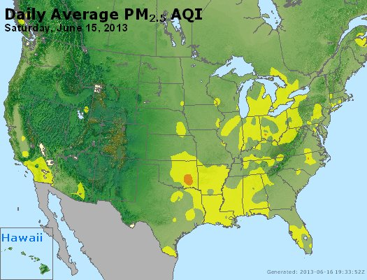 Peak Particles PM<sub>2.5</sub> (24-hour) - http://files.airnowtech.org/airnow/2013/20130615/peak_pm25_usa.jpg