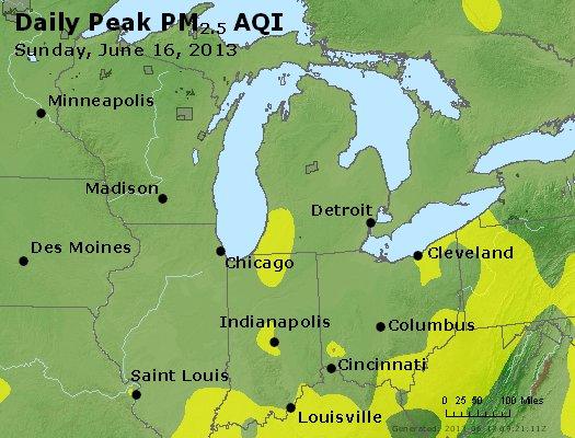 Peak Particles PM<sub>2.5</sub> (24-hour) - http://files.airnowtech.org/airnow/2013/20130616/peak_pm25_mi_in_oh.jpg