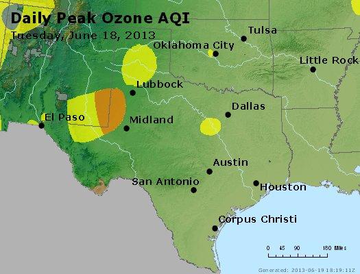Peak Ozone (8-hour) - http://files.airnowtech.org/airnow/2013/20130618/peak_o3_tx_ok.jpg