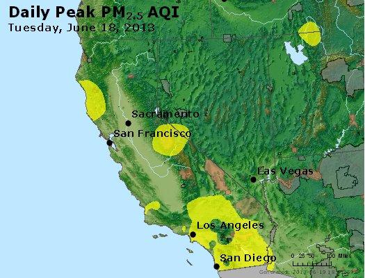 Peak Particles PM<sub>2.5</sub> (24-hour) - http://files.airnowtech.org/airnow/2013/20130618/peak_pm25_ca_nv.jpg