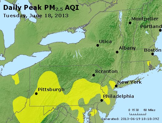 Peak Particles PM<sub>2.5</sub> (24-hour) - http://files.airnowtech.org/airnow/2013/20130618/peak_pm25_ny_pa_nj.jpg