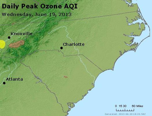 Peak Ozone (8-hour) - http://files.airnowtech.org/airnow/2013/20130619/peak_o3_nc_sc.jpg