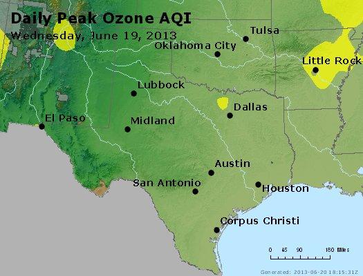Peak Ozone (8-hour) - http://files.airnowtech.org/airnow/2013/20130619/peak_o3_tx_ok.jpg