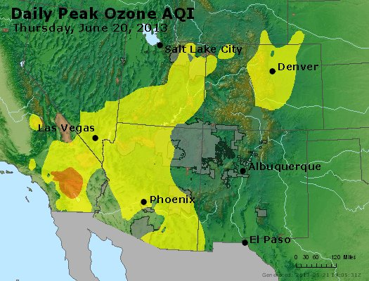 Peak Ozone (8-hour) - http://files.airnowtech.org/airnow/2013/20130620/peak_o3_co_ut_az_nm.jpg