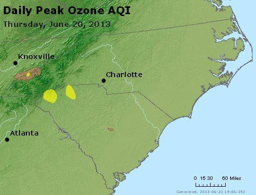 Peak Ozone (8-hour) - http://files.airnowtech.org/airnow/2013/20130620/peak_o3_nc_sc.jpg