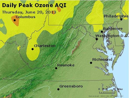 Peak Ozone (8-hour) - http://files.airnowtech.org/airnow/2013/20130620/peak_o3_va_wv_md_de_dc.jpg