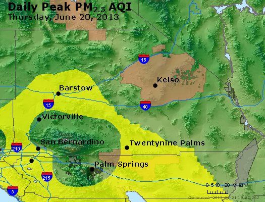 Peak Particles PM<sub>2.5</sub> (24-hour) - http://files.airnowtech.org/airnow/2013/20130620/peak_pm25_sanbernardino_ca.jpg