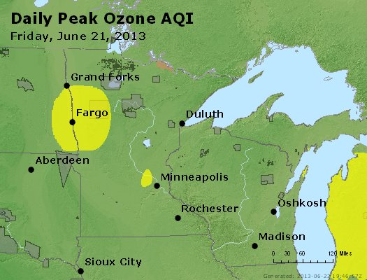 Peak Ozone (8-hour) - http://files.airnowtech.org/airnow/2013/20130621/peak_o3_mn_wi.jpg