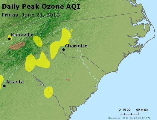 Peak Ozone (8-hour) - http://files.airnowtech.org/airnow/2013/20130621/peak_o3_nc_sc.jpg