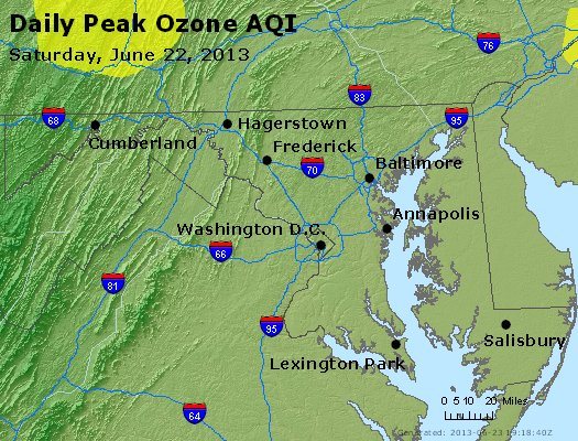 Peak Ozone (8-hour) - http://files.airnowtech.org/airnow/2013/20130622/peak_o3_maryland.jpg