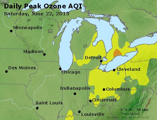 Peak Ozone (8-hour) - http://files.airnowtech.org/airnow/2013/20130622/peak_o3_mi_in_oh.jpg