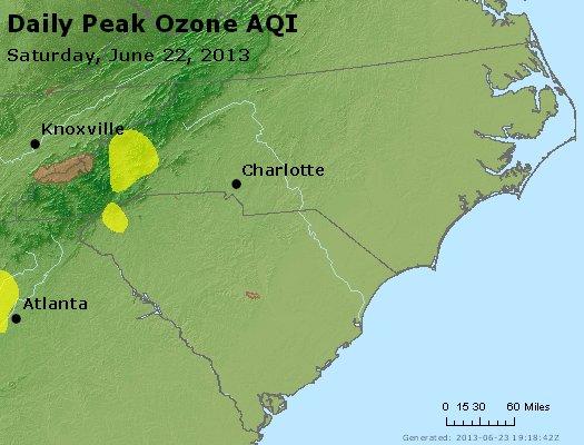 Peak Ozone (8-hour) - http://files.airnowtech.org/airnow/2013/20130622/peak_o3_nc_sc.jpg