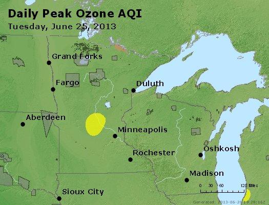Peak Ozone (8-hour) - http://files.airnowtech.org/airnow/2013/20130625/peak_o3_mn_wi.jpg