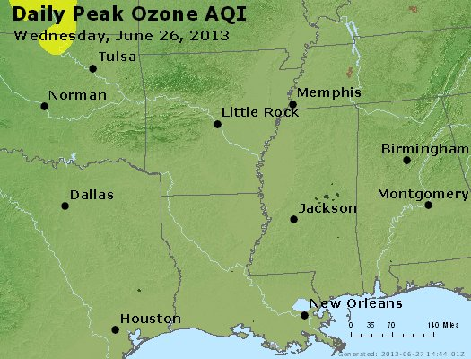 Peak Ozone (8-hour) - http://files.airnowtech.org/airnow/2013/20130626/peak_o3_ar_la_ms.jpg