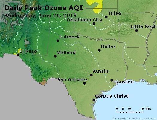 Peak Ozone (8-hour) - http://files.airnowtech.org/airnow/2013/20130626/peak_o3_tx_ok.jpg