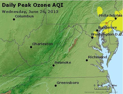 Peak Ozone (8-hour) - http://files.airnowtech.org/airnow/2013/20130626/peak_o3_va_wv_md_de_dc.jpg