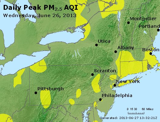 Peak Particles PM<sub>2.5</sub> (24-hour) - http://files.airnowtech.org/airnow/2013/20130626/peak_pm25_ny_pa_nj.jpg