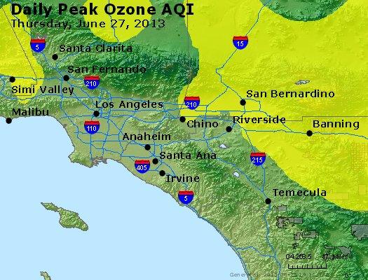 Peak Ozone (8-hour) - http://files.airnowtech.org/airnow/2013/20130627/peak_o3_losangeles_ca.jpg