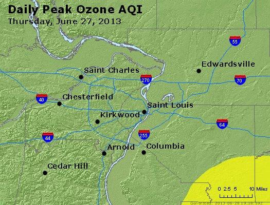 Peak Ozone (8-hour) - http://files.airnowtech.org/airnow/2013/20130627/peak_o3_stlouis_mo.jpg