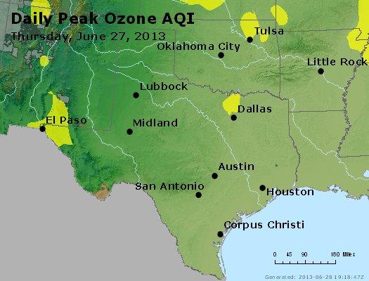 Peak Ozone (8-hour) - http://files.airnowtech.org/airnow/2013/20130627/peak_o3_tx_ok.jpg