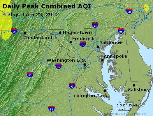 Peak AQI - http://files.airnowtech.org/airnow/2013/20130628/peak_aqi_maryland.jpg
