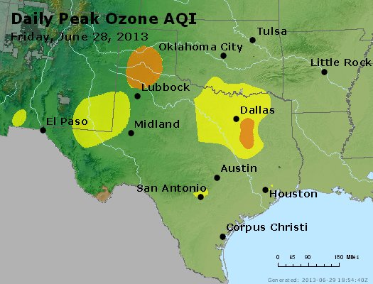 Peak Ozone (8-hour) - http://files.airnowtech.org/airnow/2013/20130628/peak_o3_tx_ok.jpg