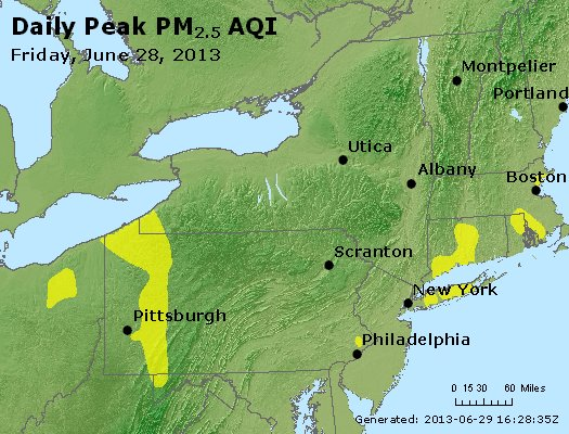 Peak Particles PM<sub>2.5</sub> (24-hour) - http://files.airnowtech.org/airnow/2013/20130628/peak_pm25_ny_pa_nj.jpg