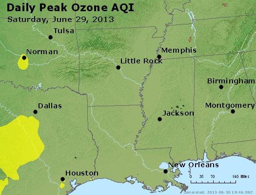Peak Ozone (8-hour) - http://files.airnowtech.org/airnow/2013/20130629/peak_o3_ar_la_ms.jpg
