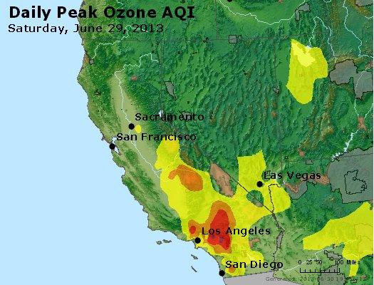 Peak Ozone (8-hour) - http://files.airnowtech.org/airnow/2013/20130629/peak_o3_ca_nv.jpg