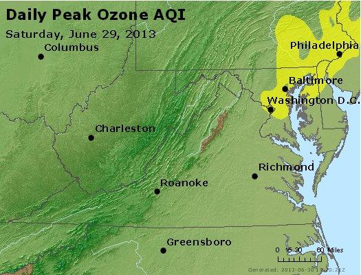 Peak Ozone (8-hour) - http://files.airnowtech.org/airnow/2013/20130629/peak_o3_va_wv_md_de_dc.jpg