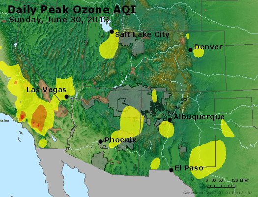 Peak Ozone (8-hour) - http://files.airnowtech.org/airnow/2013/20130630/peak_o3_co_ut_az_nm.jpg