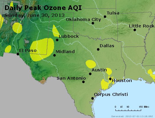 Peak Ozone (8-hour) - http://files.airnowtech.org/airnow/2013/20130630/peak_o3_tx_ok.jpg