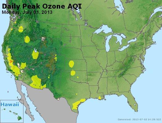 Peak Ozone (8-hour) - http://files.airnowtech.org/airnow/2013/20130701/peak_o3_usa.jpg