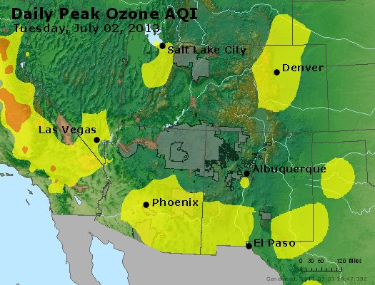 Peak Ozone (8-hour) - http://files.airnowtech.org/airnow/2013/20130702/peak_o3_co_ut_az_nm.jpg