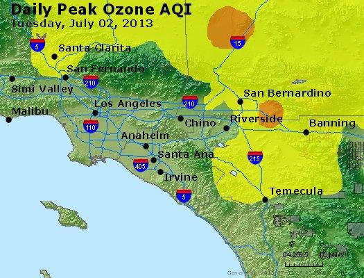 Peak Ozone (8-hour) - http://files.airnowtech.org/airnow/2013/20130702/peak_o3_losangeles_ca.jpg
