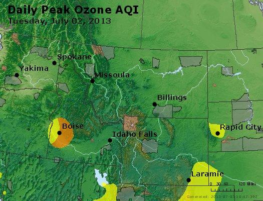 Peak Ozone (8-hour) - http://files.airnowtech.org/airnow/2013/20130702/peak_o3_mt_id_wy.jpg