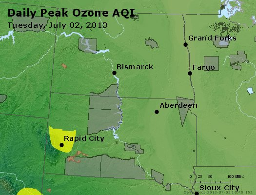 Peak Ozone (8-hour) - http://files.airnowtech.org/airnow/2013/20130702/peak_o3_nd_sd.jpg