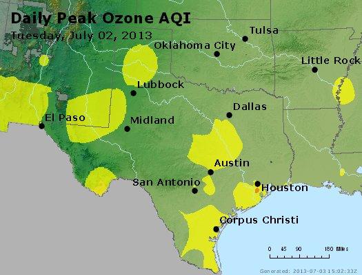Peak Ozone (8-hour) - http://files.airnowtech.org/airnow/2013/20130702/peak_o3_tx_ok.jpg