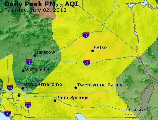 Peak Particles PM<sub>2.5</sub> (24-hour) - http://files.airnowtech.org/airnow/2013/20130702/peak_pm25_sanbernardino_ca.jpg