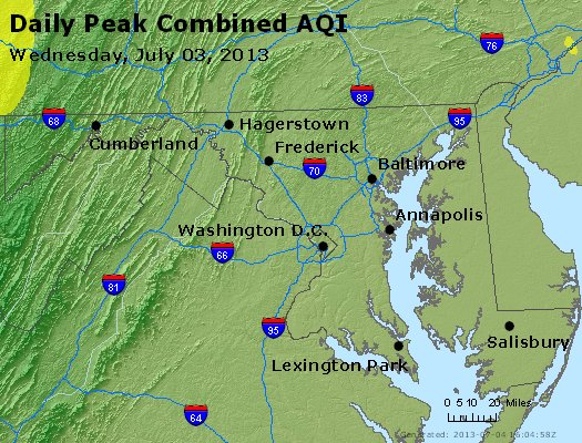 Peak AQI - http://files.airnowtech.org/airnow/2013/20130703/peak_aqi_maryland.jpg