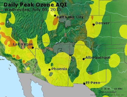 Peak Ozone (8-hour) - http://files.airnowtech.org/airnow/2013/20130703/peak_o3_co_ut_az_nm.jpg