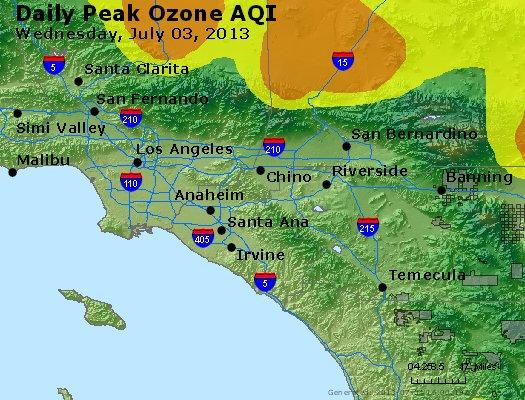 Peak Ozone (8-hour) - http://files.airnowtech.org/airnow/2013/20130703/peak_o3_losangeles_ca.jpg