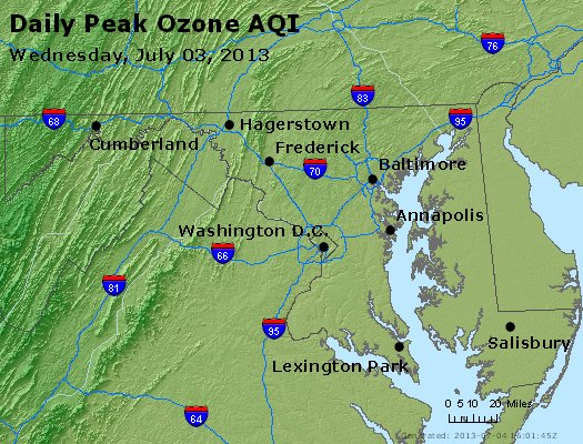 Peak Ozone (8-hour) - http://files.airnowtech.org/airnow/2013/20130703/peak_o3_maryland.jpg